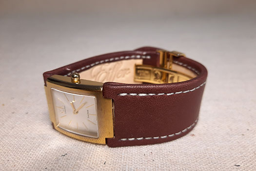 Bracelet de montre sur-mesure marron